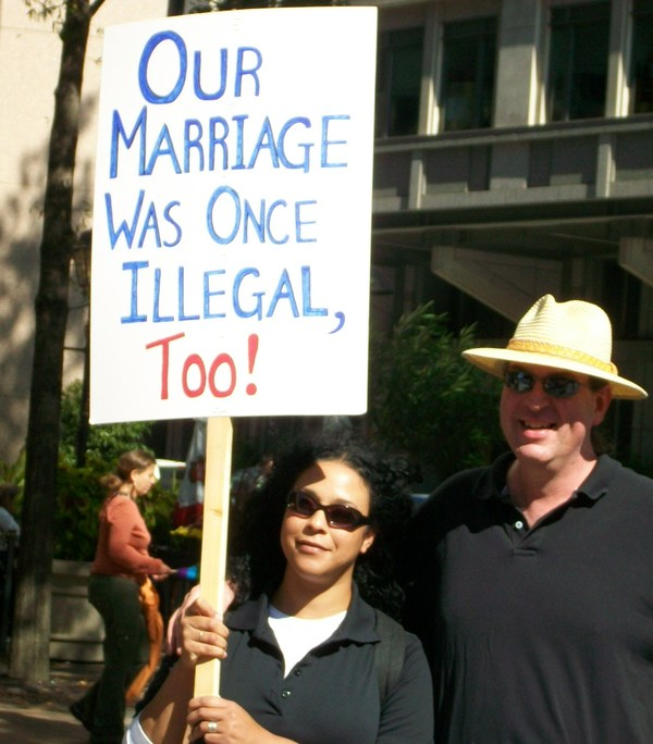 Our marriage was illegal once, too.  #NEM on Twitpic
